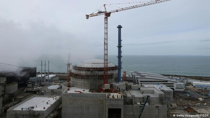 Flamanville nuclear power construction site in France