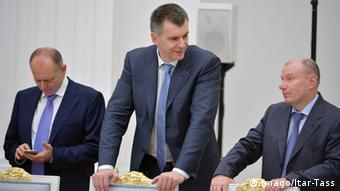 Миллиардеры Михаил Прохоров и Владимир Потанин