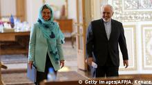 Iran EU-Außenbeauftragte Federica Mogherini & Mohammad Javad Zarif