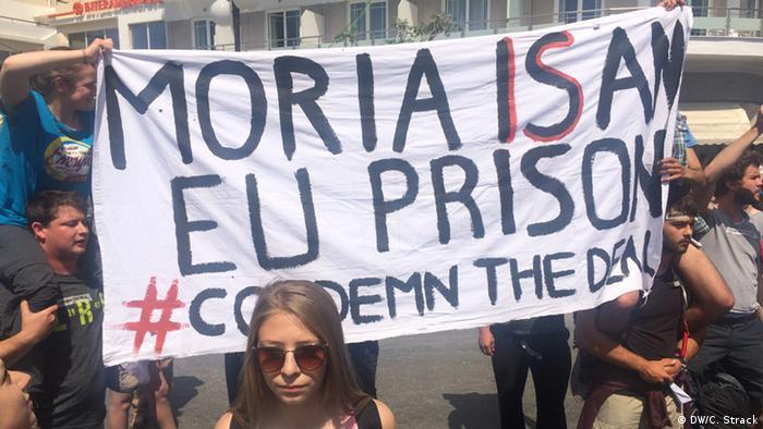 Griechenland Am Hafen von Lesbos