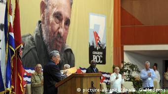 Kuba Kongress der Kommunistischen Partei Raul Castro (picture-alliance/dpa/O. G. Mederos)