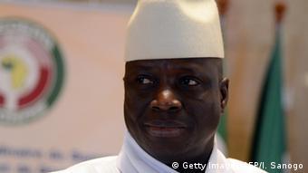 Elfenbeinküste Präsident Yahya Jammeh in Yamoussoukro