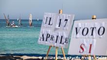 Symbolbild Italien Öl- und Gas-Referendum