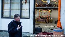 Anschlag mit Ansage? Ein Polizist nach dem Attentat auf das Essener Sikh-Heiligtum am 16. April