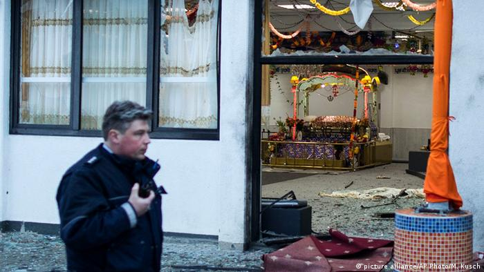 Explosion in Sikh-Gebetshaus in Essen