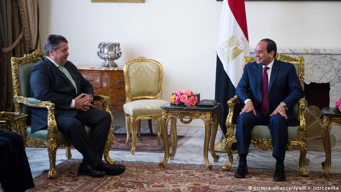 Sigmar Gabriel and Abdel Fattah al-Sisi
