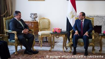 Sigmar Gabriel & Egyptian President Sissi