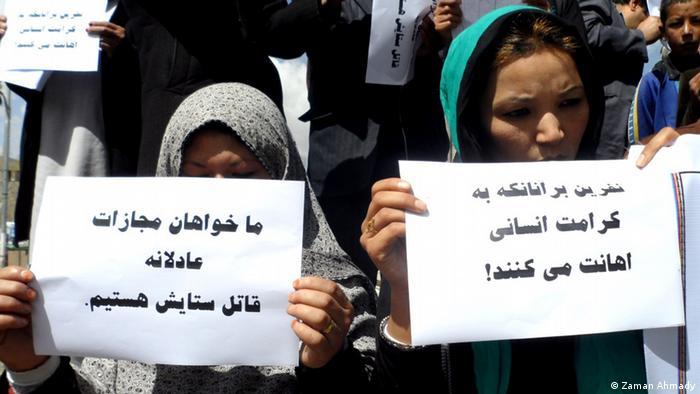 Afgahnistan Protest gegen Ermordung eines afghanisches Flüchlingsmädchen im Iran