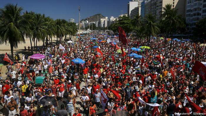 Brasilien Proteste Amtsenthebung Rousseff Rio de Janeiro