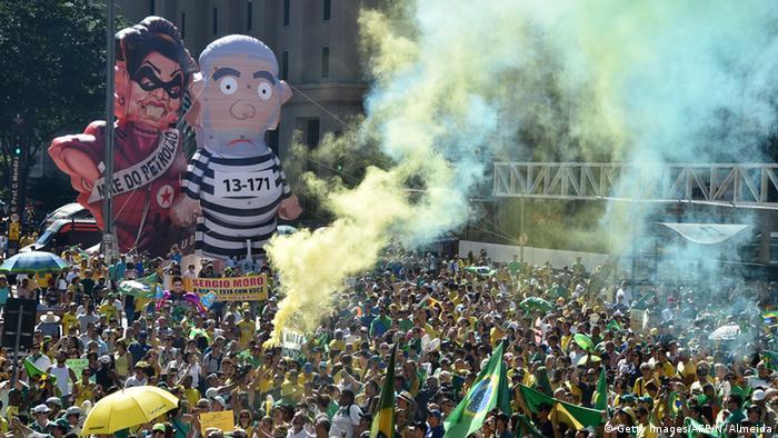 Brasilien Proteste Amtsenthebung Rousseff Sao Paulo