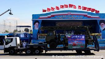 Sistema de radar russo S-300 em parada militar em Teerã