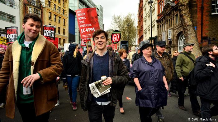 Großbritannien Brexit Pro- und Contra-Veranstalltungen