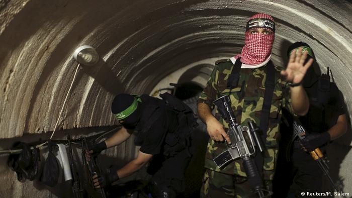 Hamás utiliza túneles para introducir en la Franja de Gaza armamento.