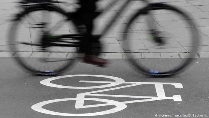 Deutschland Fahrradweg in Stuttgart