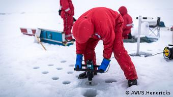 Scientist on sea ice