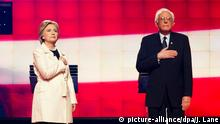 USA Vorwahlen Hillary Clinton mit Bernie Sanders in CNN Interview