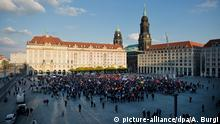 Dresden Altmarkt Pegida Demonstration