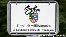 Deutschland Landkreis Sömmerda Schild