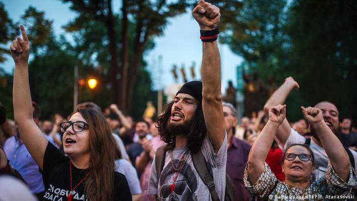 Mazedonien Anti-Regierungsproteste in Skopje