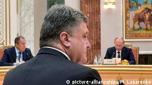 Belarus Petro Poroschenko und Wladimir Putin in Minsk