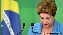 Brasilien Dilma Rousseff Pressekonferenz in Brasilia