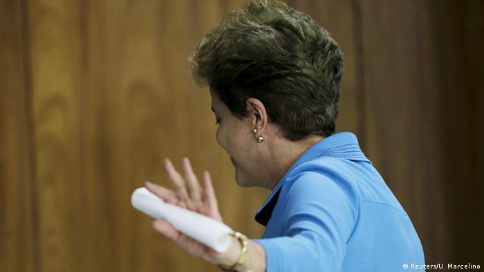 Brasilien Dilma Rousseff Pressekonferenz in Brasilia (Foto: Reuters/U. Marcelino)