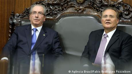 Brasilien Renan Calheiros und Eduardo Cunha