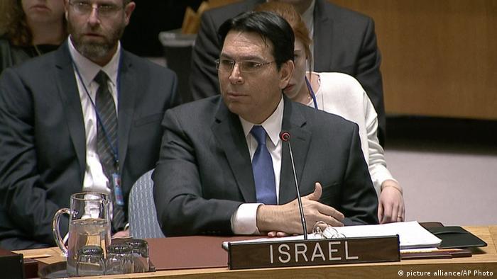 El embajador israelí ante las Naciones Unidas, Dany Danon, reaccionó hoy con reserva después deque Estados Unidos se distanciara de los planes israelíes de construcción de asentamientos en Cisjordania. (3.02.2017)