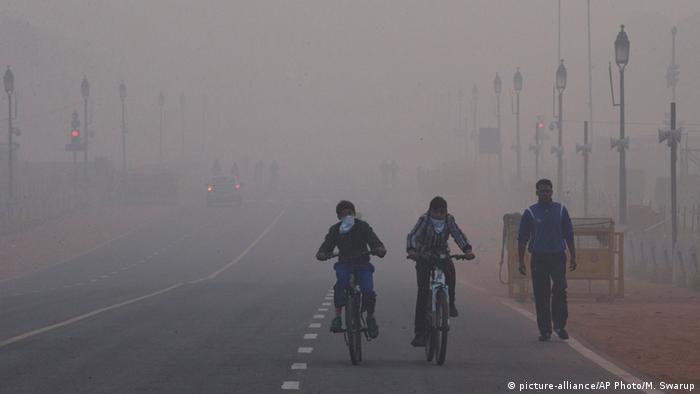 Indien Luftverschmutzung in Neu Delhi