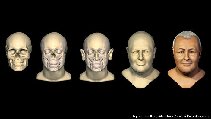 Rekonstruktion des Gesichts von Johann Sebastian Bach vom Bachhaus Eisenach.(picture-alliance/dpa/Foto: Artefakt Kulturkonzepte)