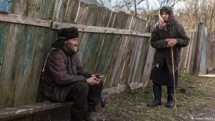 Жители села Куповатое: Виктор Чаусов и Мария Сапуга