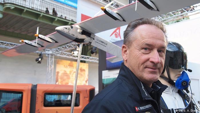 Andre Borschberg, co-pilot of Solar Impulse 2, in Paris (Picture: DW/S. A. Diehn)