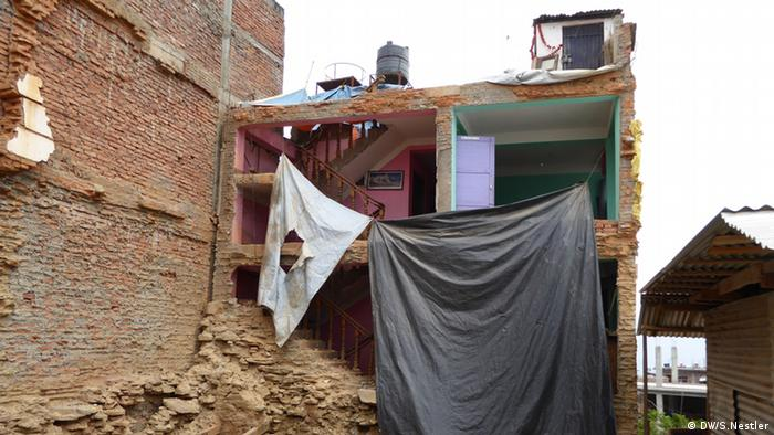 A destroyed house in Chautara
