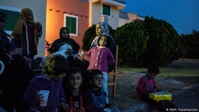 Griechenland Peloponnes Touristenkomplex Flüchtlingslager