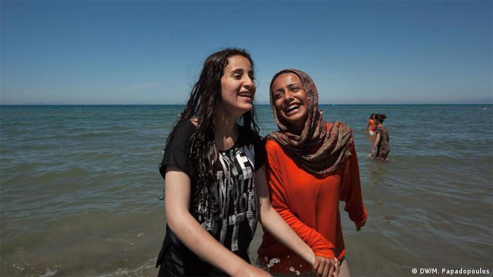 two girls on a beach Copyright: Myrto Papadopoulos,