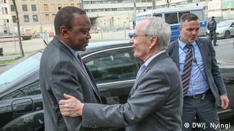 Kenia Präsident Uhuru Kenyatta und Heinz-Walter Große