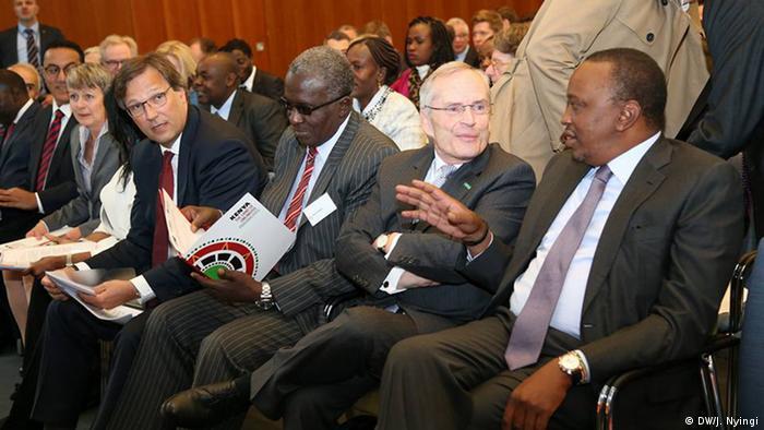 Kenya President Uhuru Kenyatta and Heinz-Walter Große