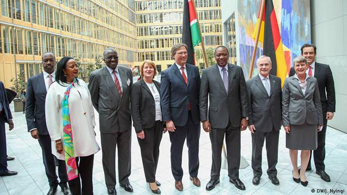 Kenyan president with a German business delegation