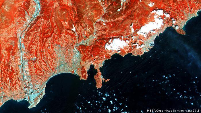 ESA - Satellitenbild Sentinel-1A von Französische Riviera
