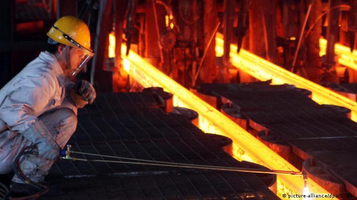 Chinesiche Stahlfabrik (picture-alliance/dpa/S. Wei)