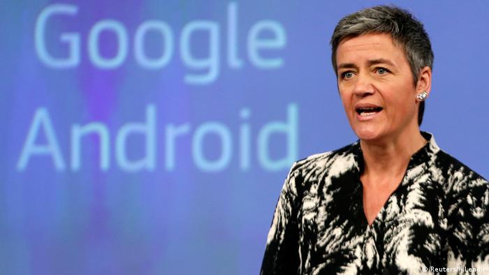 Margrethe Vestager Europäische Commission PK Brüssel Google Android