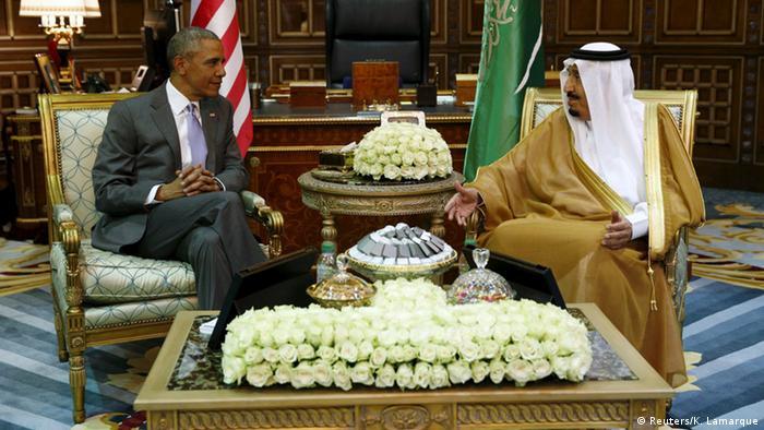 Saudi-Arabien König Salman empängt Barack Obama