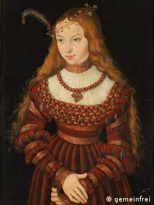 Лукас Кранах-старший. Портрет принцессы Сибиллы фон Клеве, 1526. Похищен в Веймаре в 1992 году