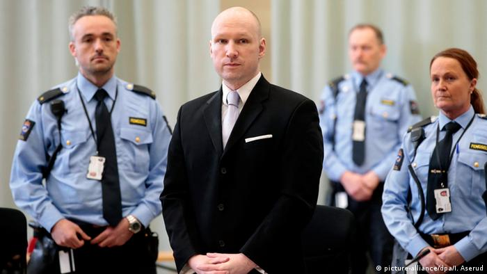 Anders Behring Breivik im Gericht (Archivfoto: Picture alliance)