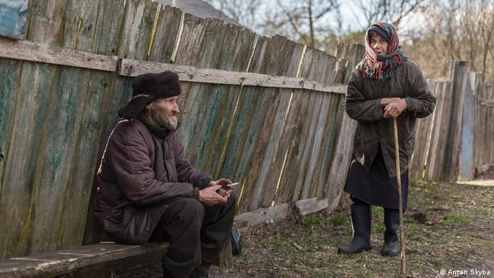 Wiktor Tschausow und Marija Sapura in der Sperrzone von Tschrnobyl (Foto: Anton Skyba)