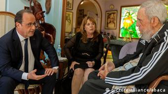 Kuba Havana Fidel Castro Francois Hollande