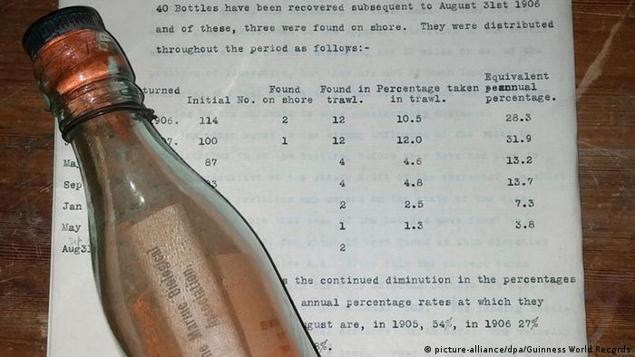Century-old message in a bottle makes Guiness World Records