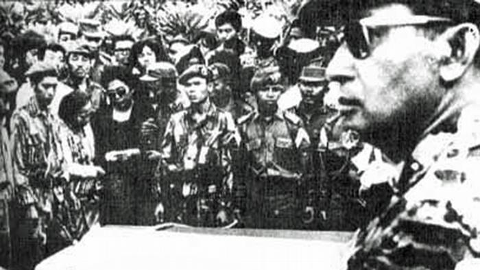 Indonesien General Suharto Beerdigung Generäle