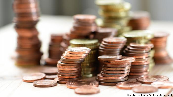 Symbolbild Geld sparen - Münzen