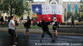 Chile Proteste in Santiago De Chile